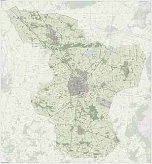 Raalte - Dutch Topographic map of Raalte, June 2015