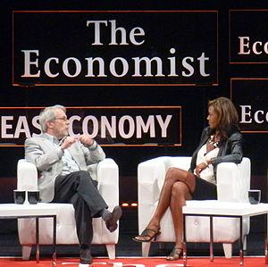 Geoffrey Nunberg - Geoffrey Nunberg talking with Juliette Powell at a conference in 2012
