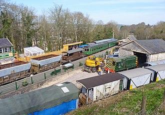 Midsomer Norton railway station - Midsomer Norton railway station in 2012