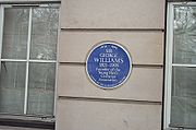 A plaque for George Williams in Russell Square.