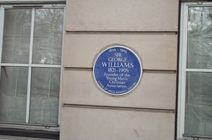 George Williams (YMCA) - A plaque for George Williams 13-16 Russell Square, London.