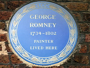 Romney's House - Romney's London County Council blue plaque