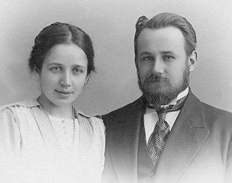 George Vernadsky - Vernandsky with wife Nina in 1909