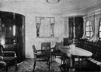 SS George Washington - 1st Class cabin, 1909
