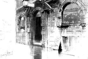 George and Vulture - The entryway of the George and Vulture Inn, sometime in the early 1900s