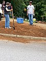 Georgia Native Plant Society planting butterfly garden in Heritage Park, Mableton, Cobb County, Sept 2015 25.jpg
