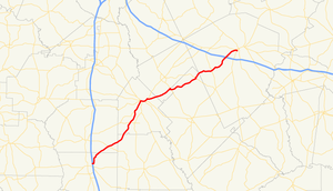 Georgia State Route 257 - Image: Georgia state route 257 map