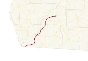 Georgia State Route 97 - Image: Georgia state route 97 map