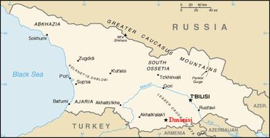 Dmanisi Georgia Map.Dmanisi Wikipedia