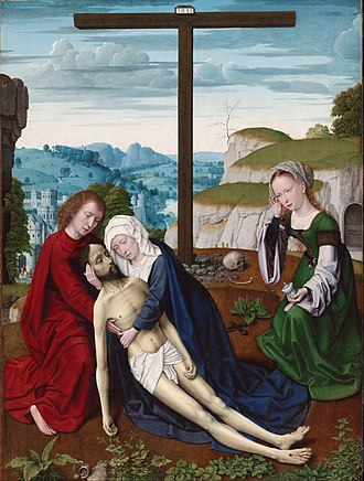 Lamentation (Gerard David) - Another Lamentation (c. 1515–1520) by Gerard David in the Philadelphia Museum of Art