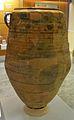 Gerra decorada amb una olivera i un magraner, Puntal dels Llops, Museu de Prehistòria de València.JPG