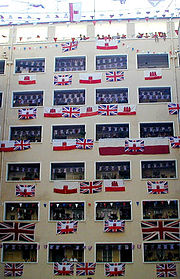 Gibraltar Tercentenary flag display