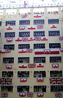 Gibraltar Tercentenary flag display.jpg