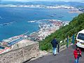 Gibraltar city and bay from the Rock of Gibraltar 2.jpg