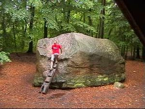 Glacial erratic - The Giebichenstein in Stöckse, Germany
