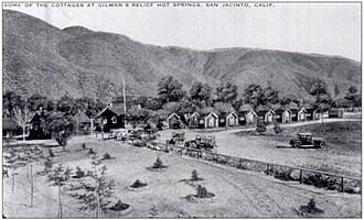 Gold Base - Cottages at Gilman's Relief Hot Springs in 1920