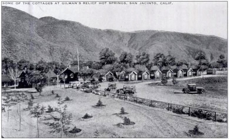 Gilman's Relief Hot Springs cottages 1920