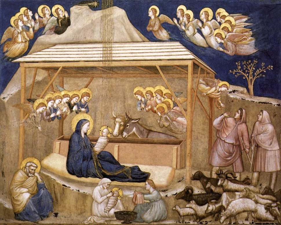 Giotto, Lower Church Assisi, Nativity 01