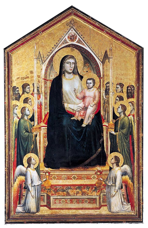 Giotto Ognissanti Madonna white ground