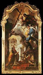Giovanni Battista Tiepolo - Pope St Clement Adoring the Trinity - WGA22266.jpg