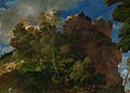 Giovanni Bellini and Titian - The Feast of the Gods - Detail- landscape to left.jpg