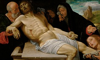 Girolamo Savoldo - The Mourning of Christ, ca. 1513–20, oil on wood, Kunsthistorisches Museum