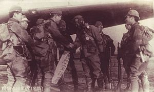 Imperial Japanese Army Air Service - Captain Okuyama and Giretsu Airborne unit depart on their mission to Okinawa