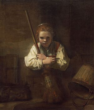 The Kitchen Maid (Rembrandt) - Image: Girl with a Broom