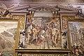 Girolamo Siciolante da Sermoneta, Pipino III dei Franchi, vincitore di re Astolfo, dona Ravenna e la Pentapoli a papa stefano II, 1565-68, 01.jpg