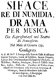 Giuseppe Maria Nelvi - Siface - titlepage of the libretto - Frankfurt 1732.png