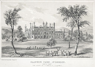 Glanusk Park Co. Brecon: (North Front) the seat of J. Bailey, Esq. M.P