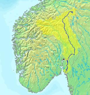 Verlauf der glomma in norwegen