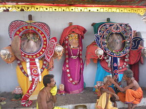 Snana Yatra - elephant attire is put on their body on the occasion of snana yatra.