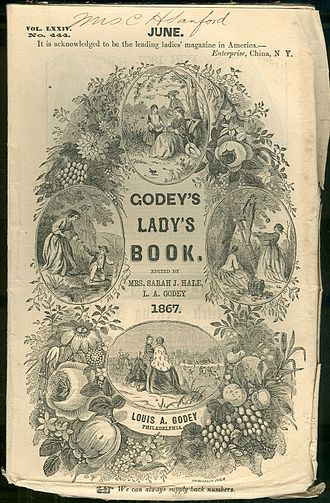 Cult of Domesticity - Godey's Lady's Book was a highly influential women's magazine which reinforced many of the values of the Cult of Domesticity.