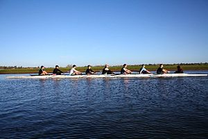 Wadham College Boat Club - The Wadham men training on the Godstow Stretch