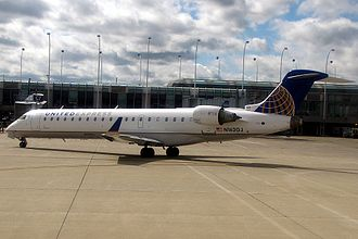 United Express - United Express Bombardier CRJ700 operated by GoJet at O'Hare International Airport