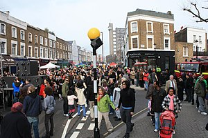 Brazilians in the United Kingdom - A Brazilian festival in March 2009, Golborne Road, Notting Hill
