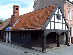 A pub built in the mid 18th century is the only building of its kind present in the town