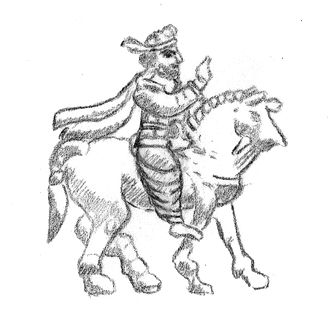 Gondophares - Gondophares on horse, from his coinage (Click image for reference).