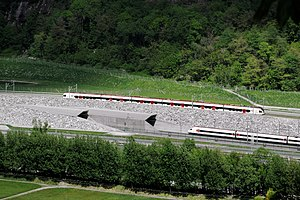 NRLA - The Gotthard Base Tunnel (south portal) and the adjacent summit railway