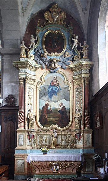 Intérieur de l'église de Goux-les-Usiers (Doubs).