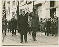 Gov. W. C. Sproul and son Jack led the Union League in Peace Parade on Armistice Day, Nov. 11, 1918 (12795375065).jpg