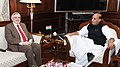 Governor of Kerala P. Sathasivam calling on the Union Home Minister Rajnath Singh.jpg