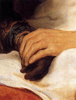 Govert Flinck - Isaac Blessing Jacob (detail) - WGA07931.jpg