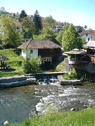 Gradac (river) - Image: Gradac mill