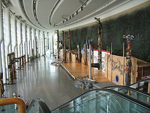 2011 royal tour of Canada - Image: Grand Hall at the Canadian Museum of Civilization