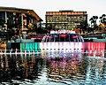 Grand Park Fountain in Mexican flag.jpg