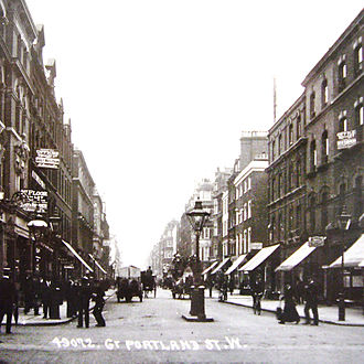 Langham Estate - Great Portland Street as seen in the early 1900s
