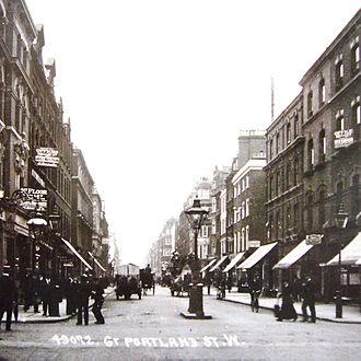 Langham Estate - Great Portland Street as seen in the early 1900s