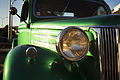 Green '50s Ford truck hood and headlight detail, Auckland - 0176.jpg